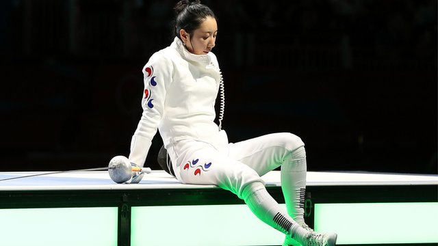 South Korean fencer Shin Lam