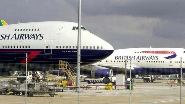 British Airways jets at Heathrow Airport London