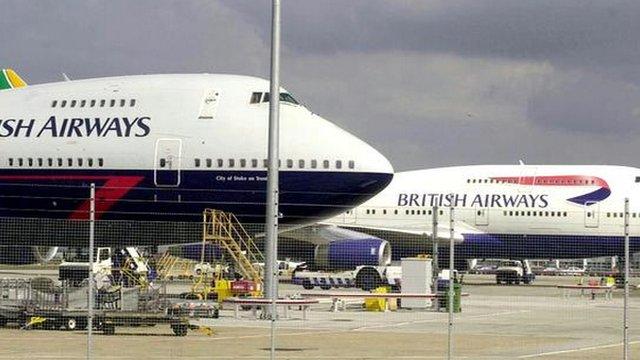 British Airways jets at Heathrow Airport London