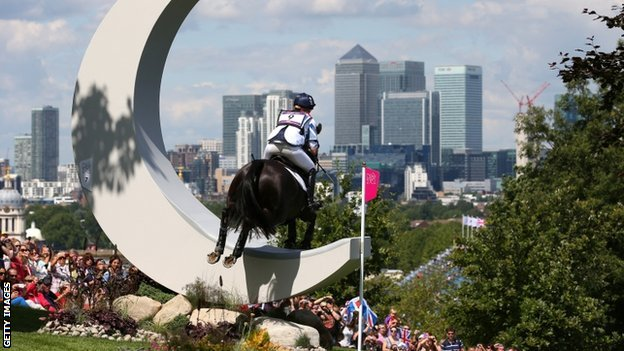 Nicola Wilson of Great Britain in the Equestrian