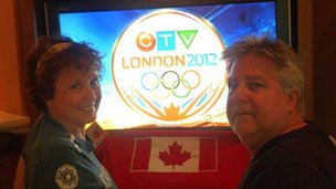 Deborah Dodds and Jack Gabriel, are watching the games in Canada