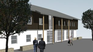 Artist's impression of the proposed centre. Pic: Iain Reece