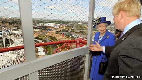 The Queen with Boris Johnson