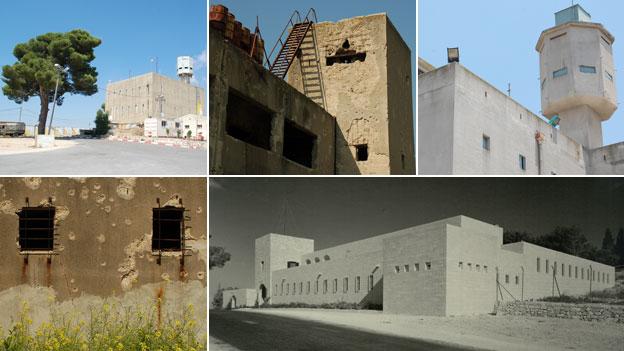 (clockwise) Matat fort; Gesha fort; Nebi Yosha fort; Qaryat El Inab fort; Gesha fort (credit: BBC/ Samuel Joseph Schweig/Otto Hoffman archive, National Library of Israel