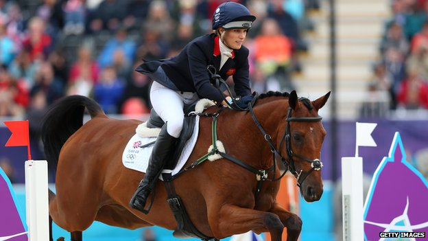 Zara Phillips competing at the Olympics