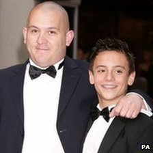 Tom Daley with his father Robert