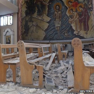 Um al-Zinar church in Homs was damaged during clashes between security forces and rebels