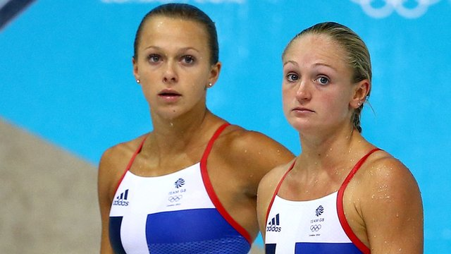 Great Britain's Olympic divers Tonia Couch and Sarah Barrow