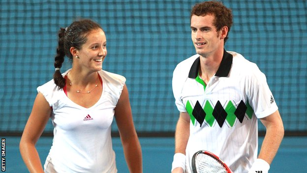 Laura Robson and Andy Murray