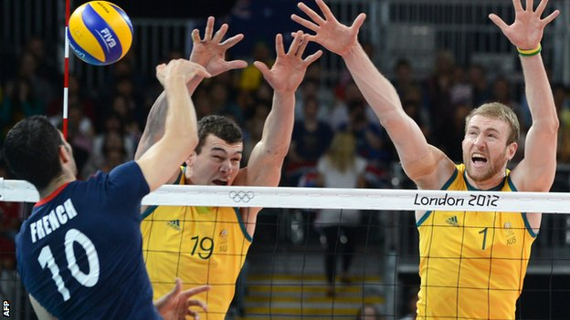 GB volleyball were beaten by Australia