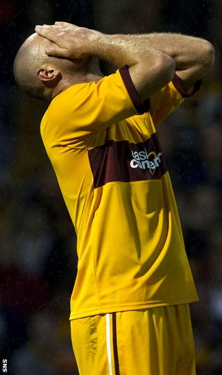 Higdon was among those to miss chances for Motherwell against the Greeks
