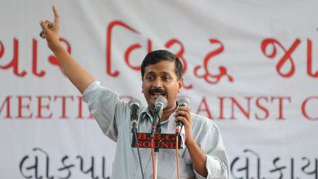 Anti-corruption activist Arvind Kejriwal