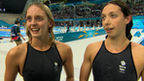 Great Britain's swimmers Fran Halsall and Amy Smith
