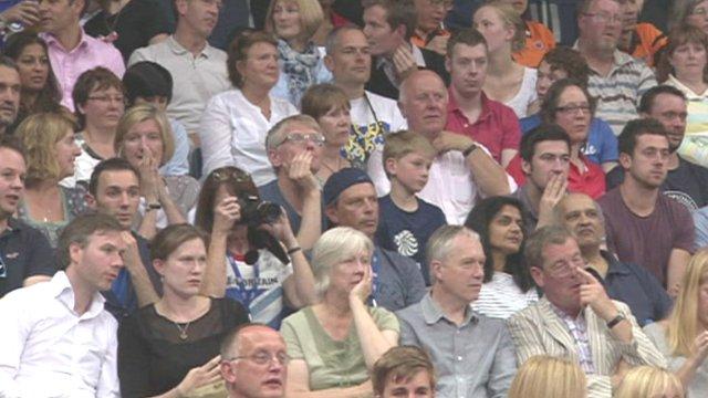 Badminton audience at Wembley