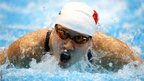 Zige Liu of China competes in the women's 200m butterfly