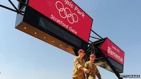 Soldiers at the Olympic park