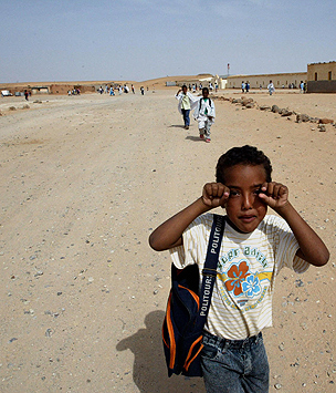 Boy in refugee camp, Tindouf