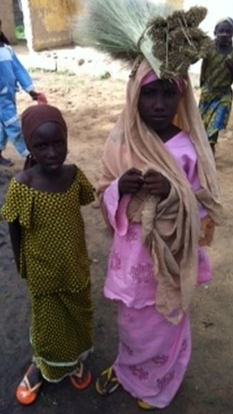 Children in the remote Nigerian village of Duhuwa