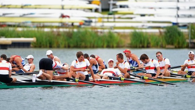 Great Britain and Germany men&#039;s eight rowers