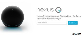 Google Nexus Q order page screenshot