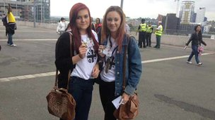 Alice and Sian at Wembley Stadium