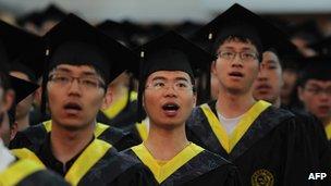 Chinese students graduating