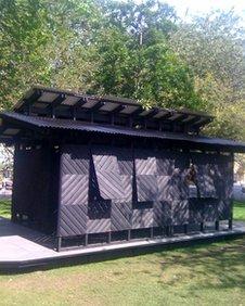 Andrew Miller's Scandinavian-style wooden pavilion