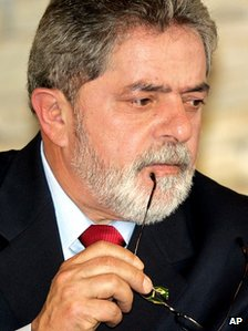 Luiz Inacio Lula da Silva in a file photo from 2005