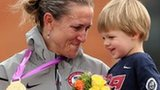 Kristin Armstrong and son
