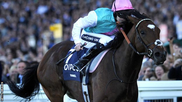 Frankel wins the Sussex Stakes