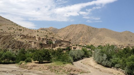 The valley in Afghanistan&#039;s Parwan province where Najiba was killed