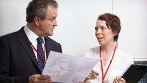 Hugh Bonneville and Olivia Colman in Twenty Twelve
