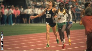 Bayi winning the 1500m at Christchurch in 1974