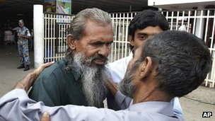 Man missing for 23 years, believed to dead, returns from Pakistani prison.