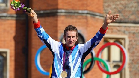 Bradley Wiggins with medal