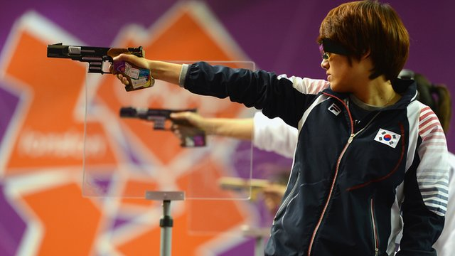 South Korea&#039;s Kim Jangmi wins 25m pistol