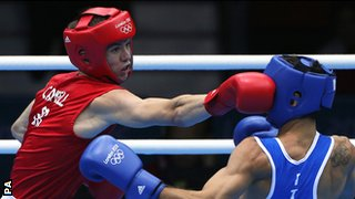 Luke Campbell during his win over Italy's Jahyn Vittorio Parrinello