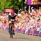 Bradley Wiggins at the finishing line