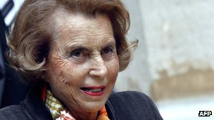 L&#039;Oreal heiress Liliane Bettencourt in October 2011