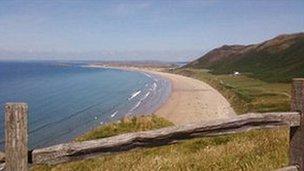 Llangenith beach