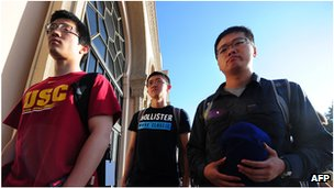 Chinese students in Los Angeles