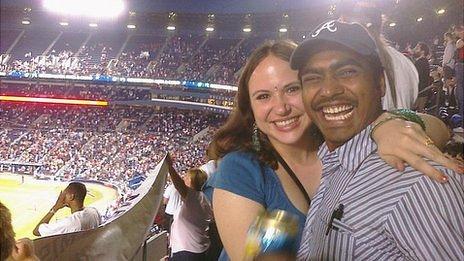 Javed Mohammad and his wife Cristina Marie Kameika