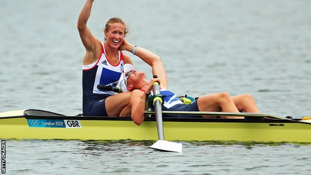 Helen Glover and Heather Stanning win Olympic gold