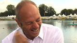 Sir Steve Redgrave sports a pair of stick on Wiggins sideburns