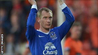Everton full-back Tony Hibbert
