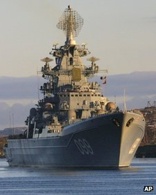 Russian nuclear-powered missile cruiser