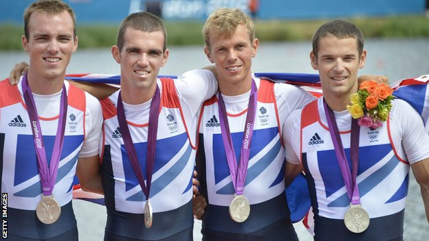 Chris Bartley (right) and the GB lightweight four