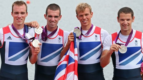 Men's lightweight four win silver