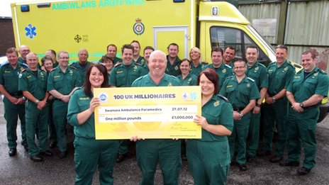 Ambulance Service Lottery winners