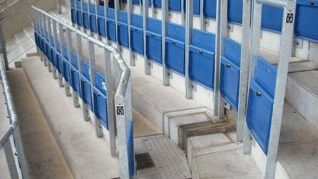Rail seats at Hoffenheim FC